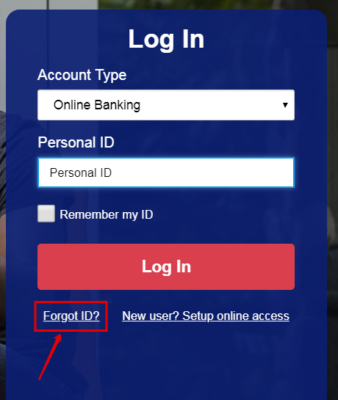 usbank - forgot id